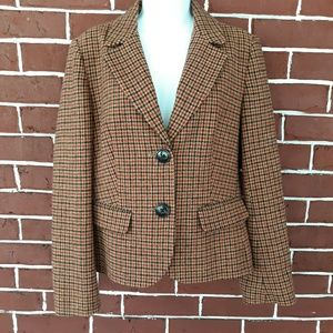 Talbots Wool Houndstooth Blazer Size 12